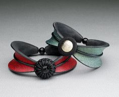 Helen Breil on The Polymer Arts blog. Helen lets her imagination shine through on these fun bracelets. www.thepolymerarts.com