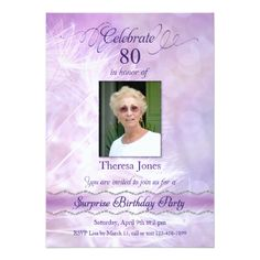 Surprise Birthday Invitations 80th Surprise Birthday Party Invitations