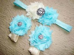 Rhinestone Baby Barefoot Sandals and Headband Set - YOU PICK COLORS - Piggy Petals - Toe Blooms - Photo Props - Baby Shoes -Newborn