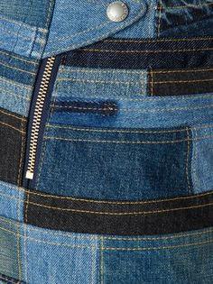 Junya Watanabe Comme Des Garçons Patchwork Denim Skirt - Restir - Farfetch.com