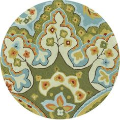 """The Conestoga Trading Co. Hand-Hooked Green/Blue Area Rug Rug Size: 2'3"""" x 3'9"""""""