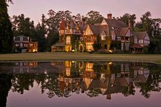 Hands down the best place I stayed in Argentina. Highly recommend a stay at the Estancia Villa María Future House, My House, Estilo Tudor, Tudor House, Restaurant, Old Houses, Countryside, Cool Pictures, Exterior