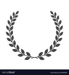 A laurel wreath icon border Symbol of victory and achievement Vintage design ele., : A laurel wreath icon border Symbol of victory and achievement Vintage design ele…, Arte Lowrider, Wreath Tattoo, Airplane Tattoos, Wreath Drawing, Crown Logo, Laurel Wreath, Hand Embroidery Patterns, Border Design, Flower Tattoos