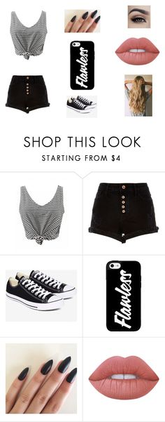 """Untitled #10"" by imperfectionitst244 ❤ liked on Polyvore featuring River Island, Converse and Lime Crime"