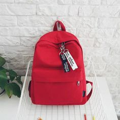 Students Canvas Backpack Cute Backpack for school Cute Backpacks For School, Stylish Backpacks, Cool Backpacks, Canvas Backpacks, Teen Backpacks, Leather Backpacks, Leather Bags, Bags For Teens, Girls Bags