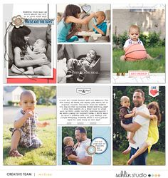 Digital project life page using For Real by Sahlin Studio