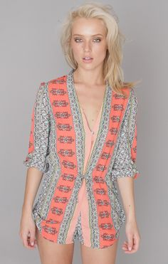 Coral Pattern Playsuit