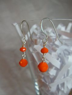 Orange Crystal Drops by ktm1353 on Etsy