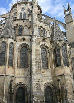 Cathédrale St-Etienne - chevet - détail Bourges ( France )