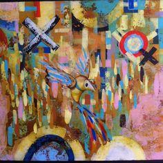 Detalle  Título: El Olvido V Formato:  100 x 50 cm.  Técnica: Óleo y acrílico sobre lienzo. Año: 2015