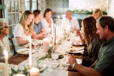 Family Gathering. Photography : Hunter Ryan Photo Read More on SMP: http://www.stylemepretty.com/living/2016/12/09/a-cozy-candlelit-holiday-gathering/