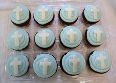 Cupcake idea for Lily Grace's Christening