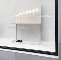 Acne Studios, signage, branding, lighting, glass