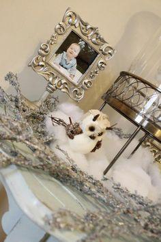 Winter wonderland ONE-derland 1st birthday party- baby boy - decor - ideas - chevron - owl
