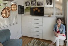 Mom builds serene and airy tiny home for her family of four and their Great Dane