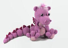 Crochet pink dragon #amigurumi #dragon #crochetdragon #dinosaur #crochetdinosaur #pinkdragon #girldragon