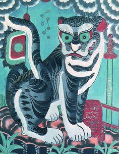 Art History Tattoo Ideas Culture 53 Ideas For 2019 Asian Cat, History Tattoos, Tiger Painting, Korean Painting, Mushroom Art, Korean Art, Traditional Art, Art History, American History