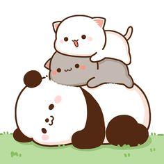 Cute Love Memes, Cute Love Gif, Cute Love Pictures, Mini Drawings, Cute Kawaii Drawings, Kawaii Cute, Cute Anime Cat, Cute Cat Gif, Cute Cats