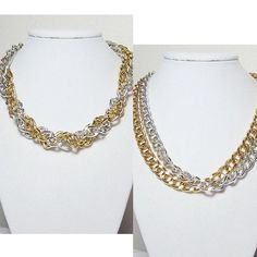 Chunky Chain Necklace Silver & Gold Double Big Links Jewelry http://etsy.me/15FpxxA via @Etsy #goldnecklace #silvernecklace #biglinks #chunkychain #necklace #jewelry by LuvaBead, $26.00