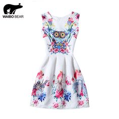Fashion O-Neck Above Knee Tutu Women Dress Animal Pattern Printed Sleeveless Floral Ball Gown Dress Like and share! www.lady-fashion.... #shop #beauty #Woman's fashion #Products