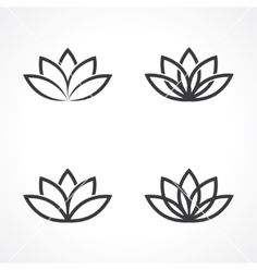 Lotus symbol vector by leone_v on VectorStock®