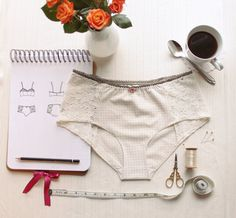 *** PLEASE NOTE! This listing is for a SEWING PATTERN, not actual lingerie. If you would like me to make you some lingerie, please visit my lingerie shop on Etsy! https://www.etsy.com/shop/ohhhlulu ***  The Grace Panties sit low on the hips and offer fuller coverage over the legs and back. These panties are suitable for under your everyday, modern clothes, and perfect for vintage-clothing lovers too! These princess seamed panties are to be sewn in a combination of woven an...