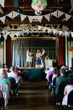 Lympstone Village Hall Devon Crafty Budget Polka Dot Village Hall Wedding https://matildarosephotography.com/