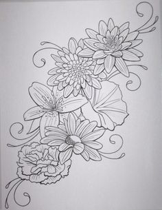 Flower Tattoo by DanielleHope on @DeviantArt