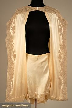 TROUSSEAU LINGERIE SET, 1930s  shrug & tap pants