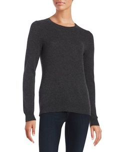 Lord & Taylor Cashmere Sweater Women's Charcoal Heather Large