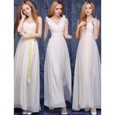 6 Stylów Linia Szyfon Światła Szampana Sukienki Na Wesele Dla Druhen