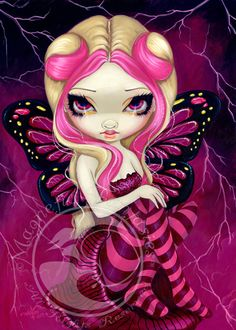 Pink Lightning by Jasmine Becket-Griffith