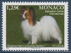 Papillon Dogs Monaco MNH stamp 2016