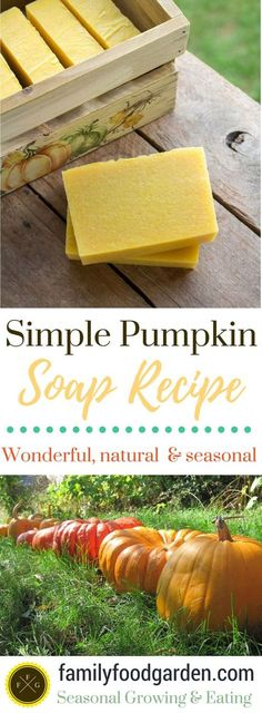 Looking for an easy soap recipe? This simple pumpkin soap recipe is a great handmade soap recipe. This pumpkin soap is a wonderful seasonal handmade soap. Handmade Soap Recipes, Handmade Soaps, Diy Soaps, Savon Soap, Soap Making Supplies, Cold Process Soap, Soap Molds, Home Made Soap, Fall Pumpkins