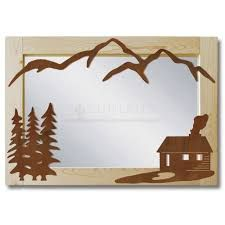 mountain mirror frame wood - Google Search Cabin Design, Bookends, Mountain, Mirror, Google Search, Wood, Frame, Home Decor, Picture Frame