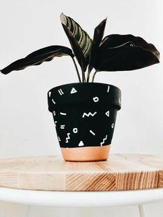 Painted Plant Pots, Painted Flower Pots, House Plants Decor, Plant Decor, Decoration Plante, Art Diy, Diy Planters, Terracotta Pots, Diy And Crafts