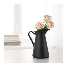 SOCKERÄRT Vase, schwarz