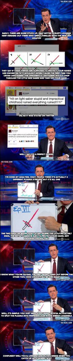 Stephen Colbert Lightsaber Explanation