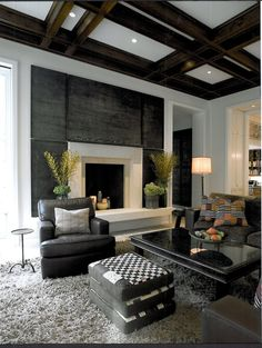 Contemporary Living Room with Custom Wood Box Beams Box ceiling Loom Decor Box&; Contemporary Living Room with Custom Wood Box Beams Box ceiling Loom Decor Box&; Diy projects for the home bedrooms […] Living Room green Fireplace Surrounds, Fireplace Design, Fireplace Wall, Modern Fireplace, Linear Fireplace, Fireplace Pictures, Fireplace Furniture, White Fireplace, Traditional Fireplace