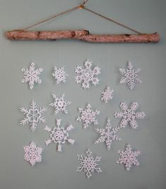 You can never have too many snowflakes! How about a beautiful snowflake wall hanging to add to your holiday décor? Make extra snowflakes to decorate packages, windows, a tree or wreath, etc. This is one of fourteen snowflakes included in the Fun & Fancy Flakes No. 8 pattern set. Skill Level: Intermediate.