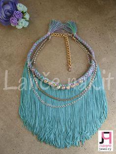 fringe handmade necklace