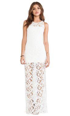 Assali Gala Lace Dress in White