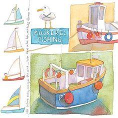 Emma Ball Coastal Scenes Greetings Card Sailing Boats