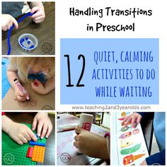 Preschool Transitions: 12 Calm Activities While Waiting - Teaching 2 and 3 year olds