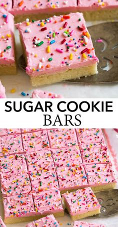 Sugar Cookie Bars, Best Sugar Cookies, Cookie Desserts, Just Desserts, Cookie Recipes, Delicious Desserts, Dessert Recipes, Yummy Treats, Sweet Treats