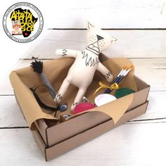 """Just as the title says """"create your own"""" these dolls become unique creations of imaginary minds at work. Baby Shop, Your Favorite, Create Your Own, Gift Wrapping, Dolls, Cats, Handmade, Painting, Shopping"""