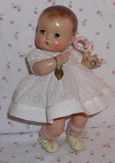 RARE Magnetic Hands -- 1940's EFFANBEE Patsy BABYkin TODDLER Doll & from dollyologyvintagedolls on Ruby Lane