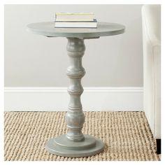 Greta End Table in Ash Grey
