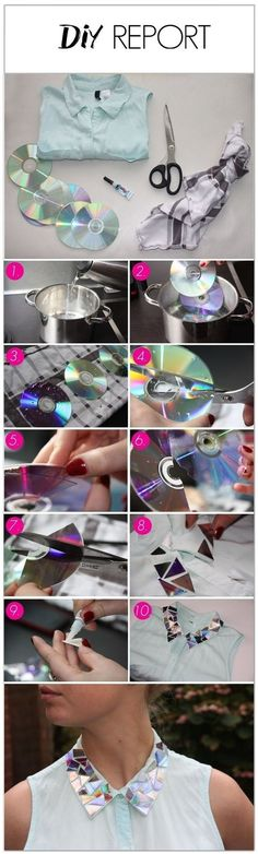 Still have your old CDs? Love this! <3  #fashion #diy #beauty