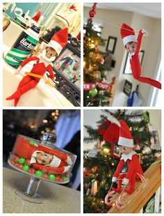Little Bit Funky: 31 days of Elf on the Shelf Elf Ideas) Winter Christmas, All Things Christmas, Christmas Holidays, Christmas Crafts, Christmas Decorations, Christmas Ideas, Winter Snow, Christmas 2019, The Elf